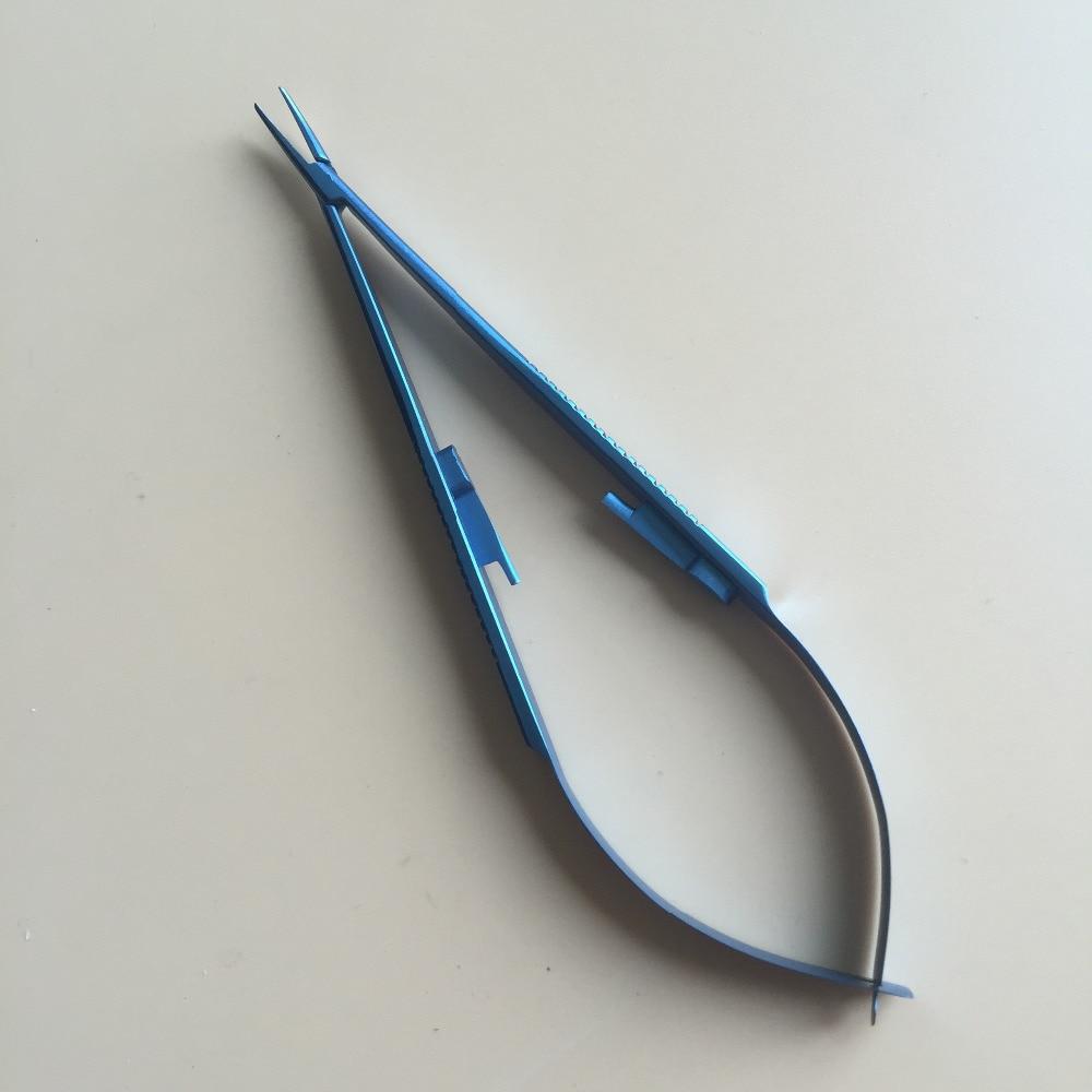 3pcs Titanium Straight Needle Holder With Lock 22cm Ophthalmic Instruments
