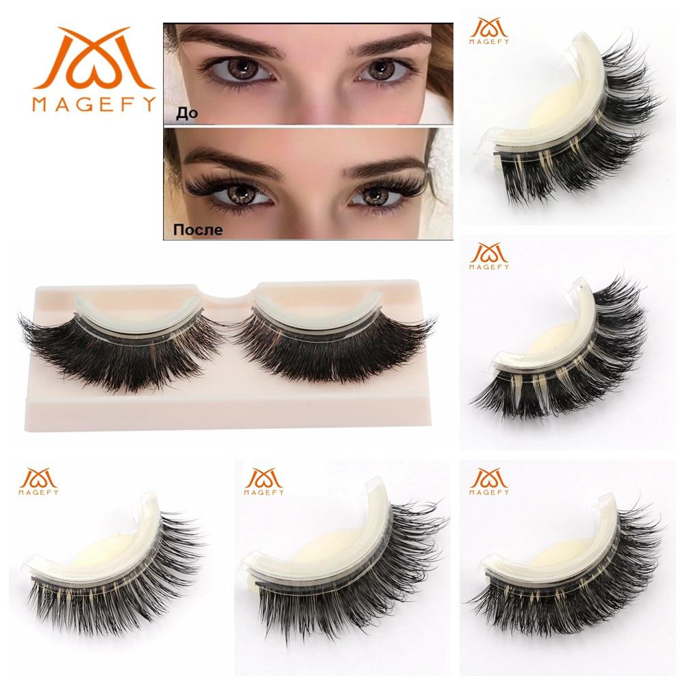 MAGEFY Silk False Eyelashes Self Adhesive Eyelashes 100% ...
