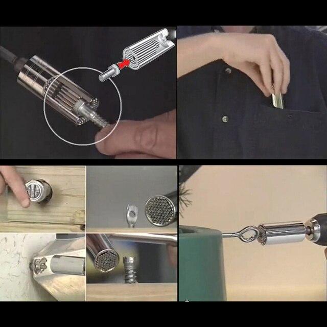 3 PCS  Multi Tool Gator Grip Universal Socket Wrench /Power Drill Adapter Tool Set Magic Hand Tools Repair Kit Dropshipping