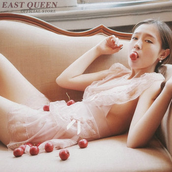 Novelty special use lingerie for sex see through nightgown women lace nightwear sexy sexy clothes for sex transparent  FF725