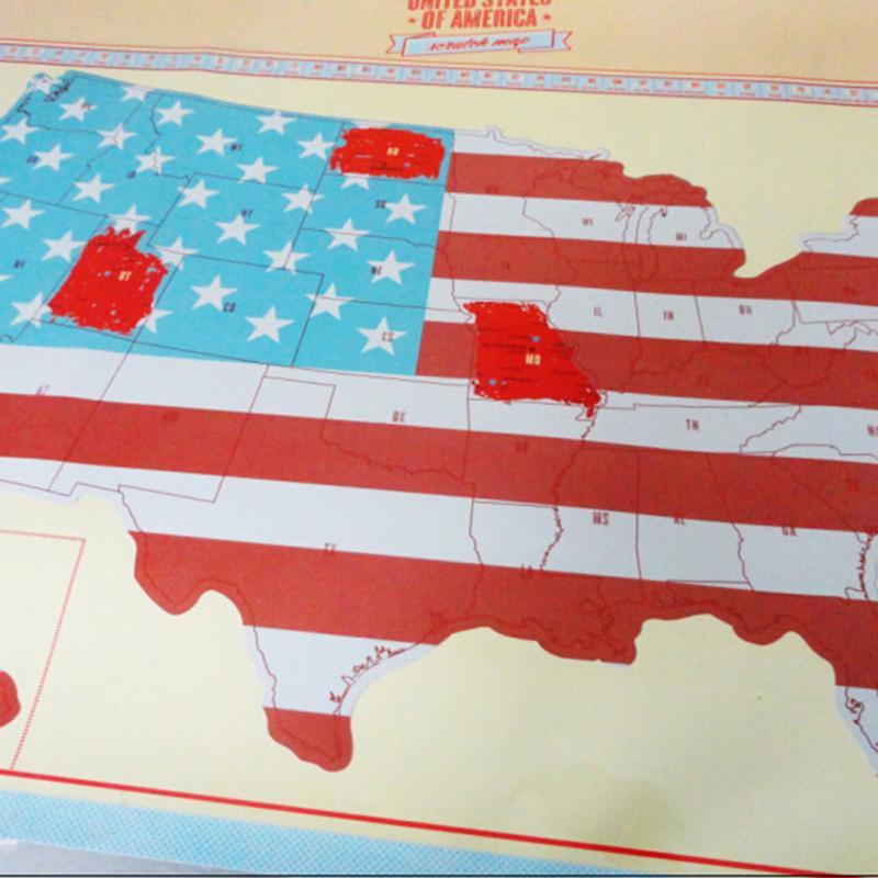 Funny Hot Sale Scratch Off Map Personalized U S Map Poster Personal Travel Trip Gift