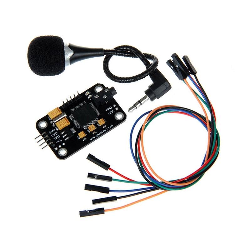 Module de reconnaissance vocale et microphone Dupont reconnaissance de vitesse compatible pour Arduino capteur d'enregistrement vocal pièces d'imprimante 3d