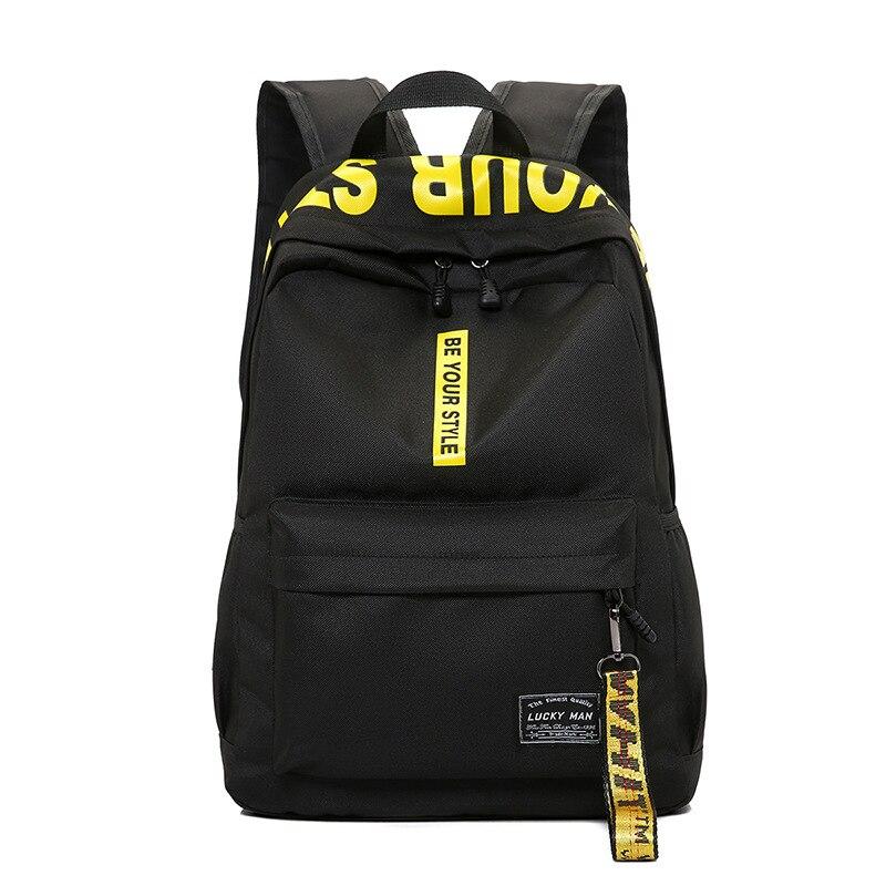 Backpack Rucksack Schoolbag Laptop Travel Teenage-Girl Teens Nylon for Female Men Student