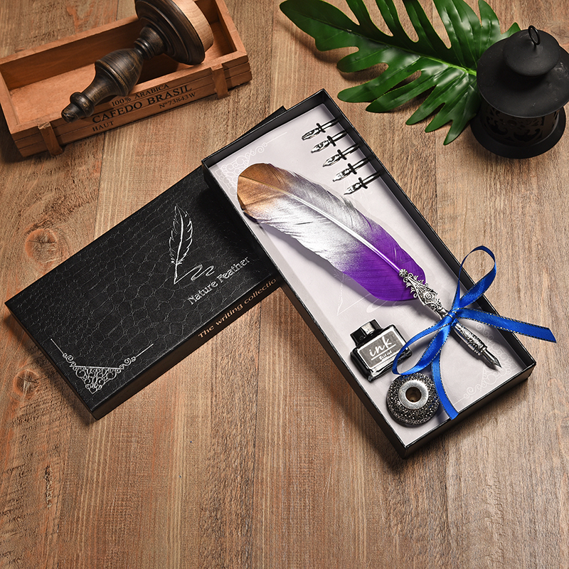 Quill Set Gift Box Writing Fountain Pen Harry Potter European Style Vintage Feather Dip Water Business gift