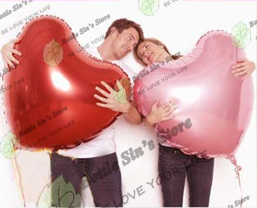 Wholesale- 10PCS  30'' Heart Shaped Helium/Hydrogen Foil Wedding Balloon, Wholesale,Free shipping