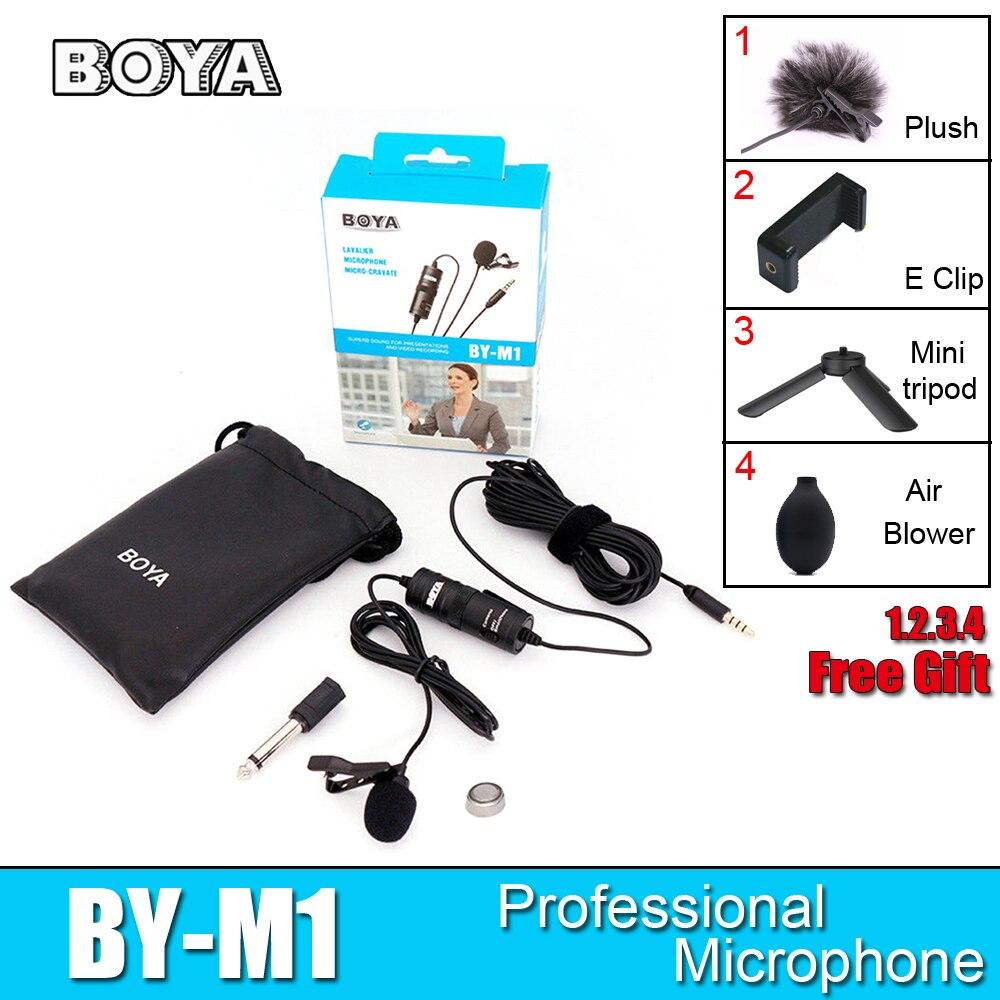 BOYA BY-M1 Lavalier-mikrofon DURCH M1 Kamera Mikrofon Video Mic Recorder für iPhone Smartphone Canon Nikon DSLR Zoom Camcorder