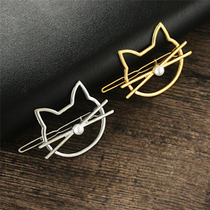 1Pc Kawaii Cute Animal Cat Head Hair Clip Barrettes Girls Lovely Hair Accessary Gifts