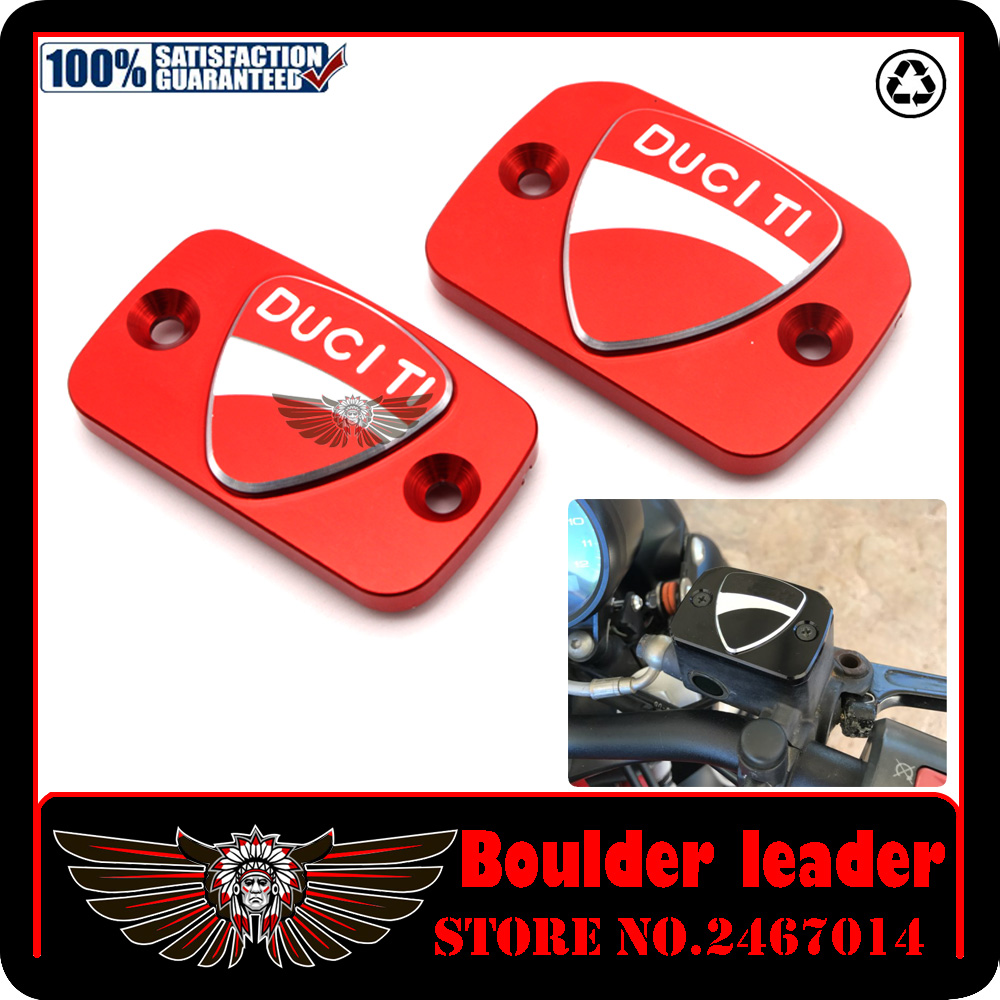 Motorcycle Accessories New Design 3D LOGO Brake Clutch Cylinder Reservoir Cover Cap For Ducati Monster 695 696 796 Red motorcycle rear side view mirrors a pair brand new high quality for ducati monster 695 696 796 black