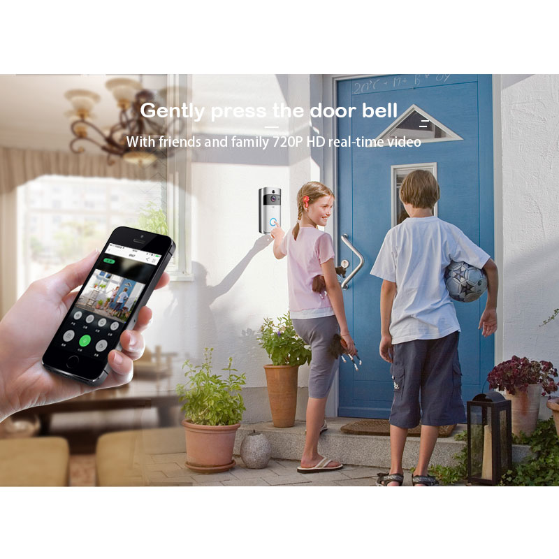 Image 2 - ZWN Smart Wireless Wifi Video Doorbell Intercom 720P Phone Call Door Bell Camera Infrared Remote Record Home Security Monitoring-in Video Intercom from Security & Protection