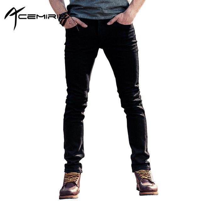 de2b8cce07 ACEMIRIZ Verano 2017 Nuevo Estilo Coreano de Los Hombres Pantalones  Vaqueros Pantalones Delgados De Moda Juvenil