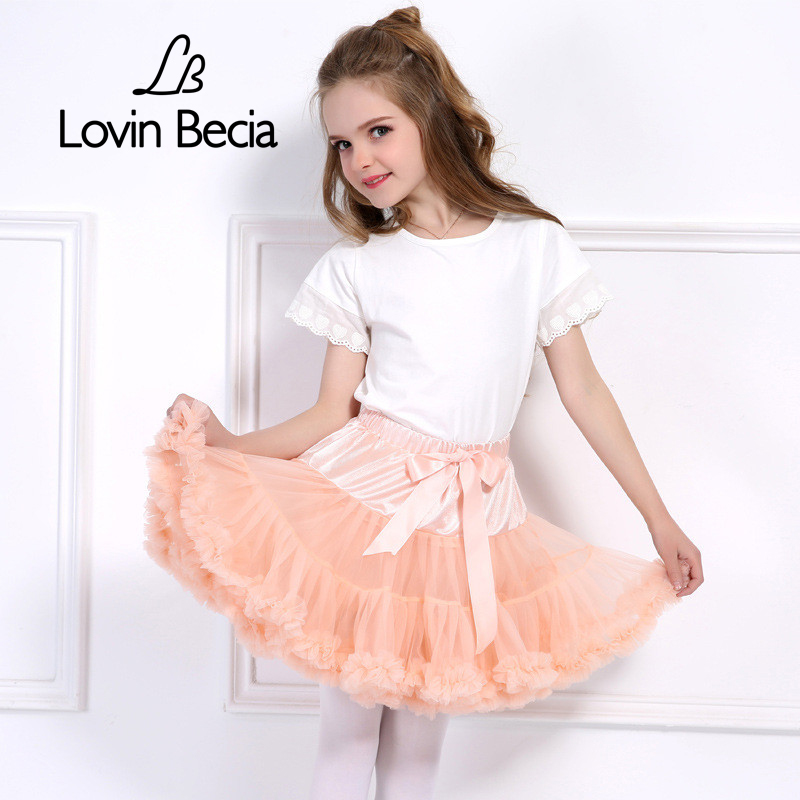 цены на LovinBecia 2018 Baby Mini tutu Skirt fluffy Ballet skirts Children Pettiskirt kids skirts for Girls Princess Party Dance Skirts в интернет-магазинах