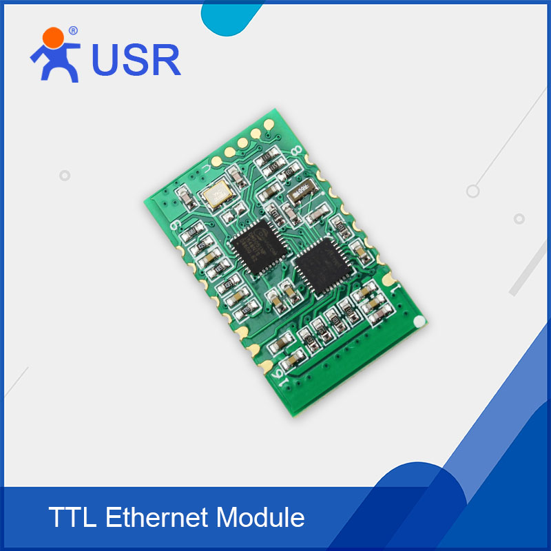 Q089 USR-TCP232-S2 New SMT Serial UART TTL to TCPIP/Ethernet Module RJ45 Converter Built-in Webpage Support HTTPD Client ttl turn rs485 module 485 to serial uart level mutual conversion hardware automatic flow control
