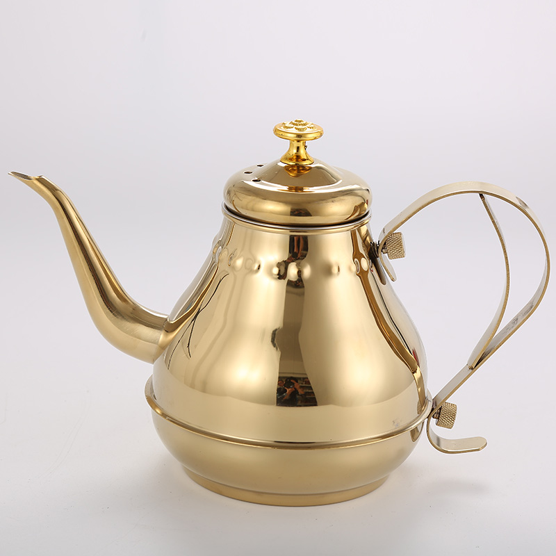 1.8L/1.2L Stainless Steel Teapot Golden Silver Pot With filter network Kitchen boiled black & green tea Puer drink water heater1.8L/1.2L Stainless Steel Teapot Golden Silver Pot With filter network Kitchen boiled black & green tea Puer drink water heater