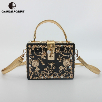 2019 New Fashion Luxury Women Handbags Marble Shinning Hollow Out Shoulder Bags Lady Print Day Clutch Wedding Party Evening Bags