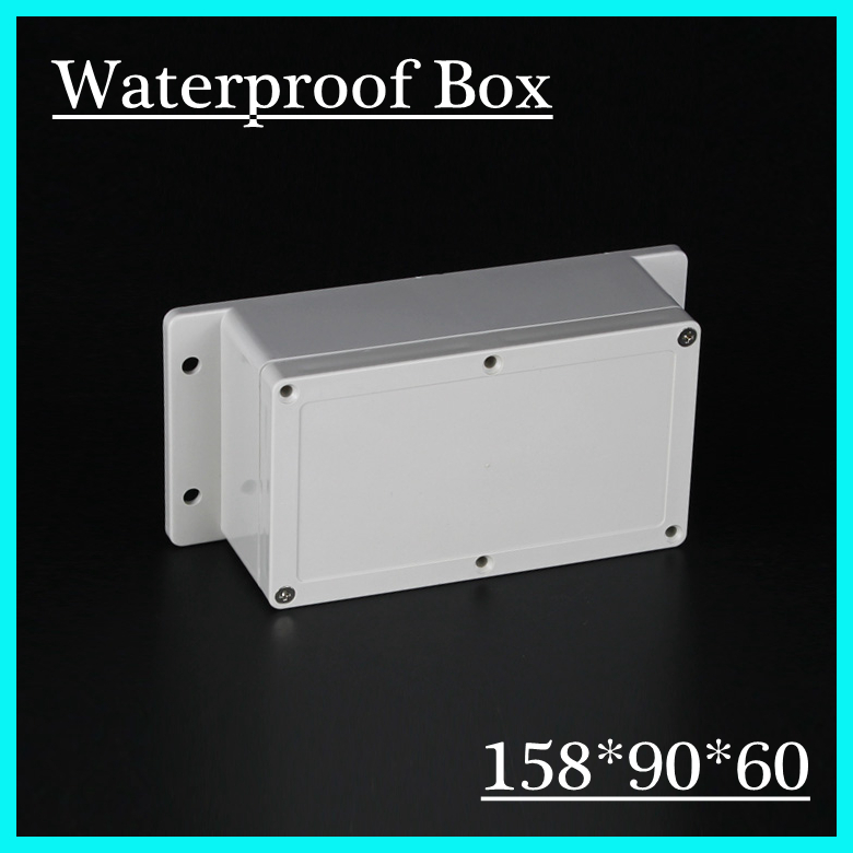 (1 piece/lot) 158*90*60mm Grey ABS Plastic IP65 Waterproof Enclosure PVC Junction Box Electronic Project Instrument Case 1 piece lot 83 81 56mm grey abs plastic ip65 waterproof enclosure pvc junction box electronic project instrument case