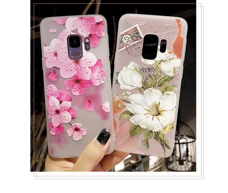 3D Relief Flower TPU Phone Case For Xiaomi Redmi