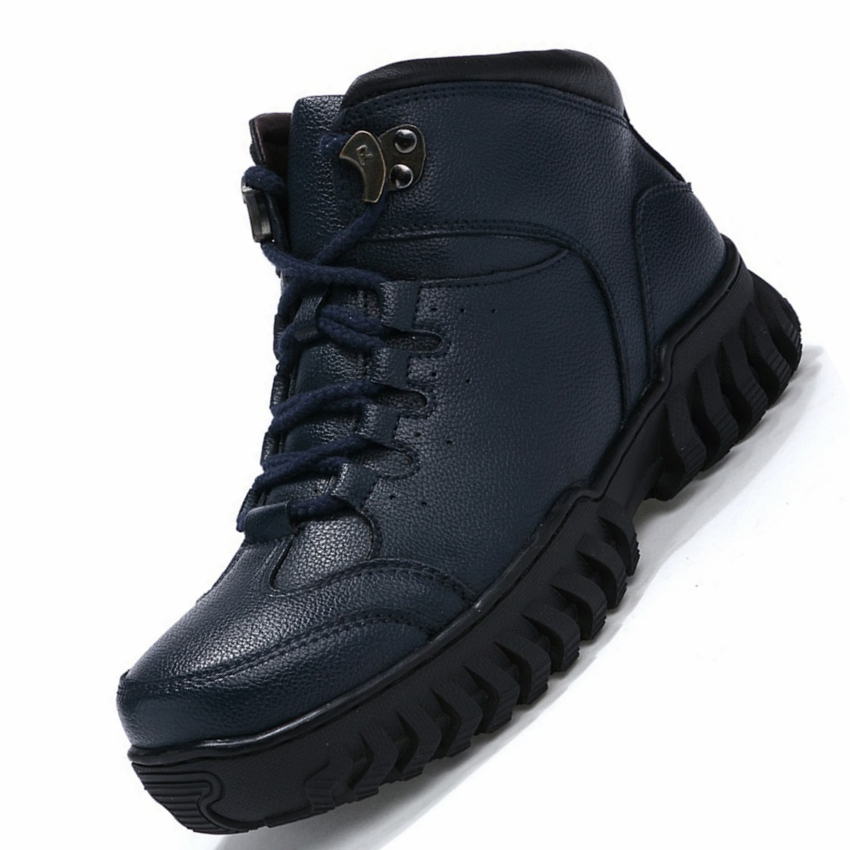 High Top Brand Genuine Leather Running Shoes Men Winter Warm Plush Travel Walking Training Shoes Men Winter Sneakers Snow Boots top brand high quality genuine leather casual men shoes cow suede comfortable loafers soft breathable shoes men flats warm