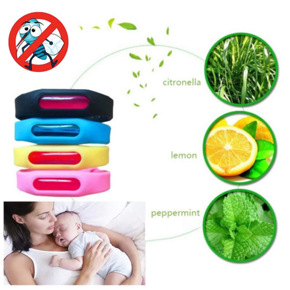 1 Comp. Armbånd + Anti Mosquito Capsule Insect Pest Bugs Office Repeller Repellent Armbånd til Kids Mosquito Killer fra 2 til 3 Place ...