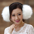 large faux fox fur earmuff unisex men women lovers winter earmuffs fluffy eye warm protection earmuffs imitation fur earmuff