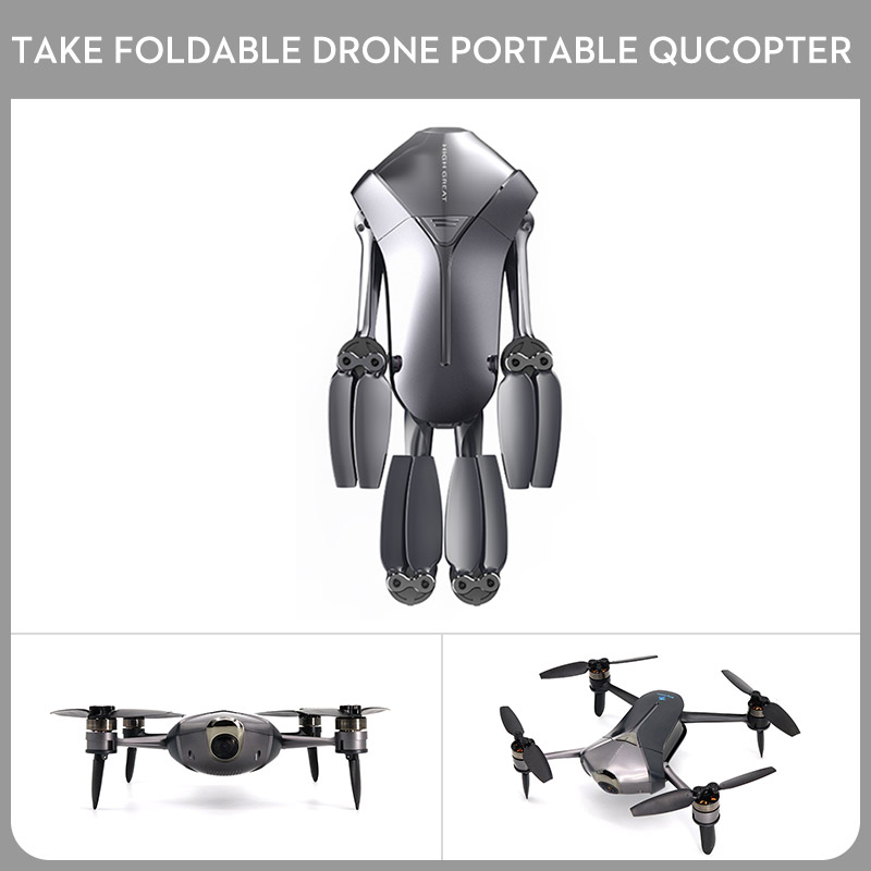 HIGH GEART Take Foldable Drone Portable Quadcopter FPV UAV App Operating HD CameraHIGH GEART Take Foldable Drone Portable Quadcopter FPV UAV App Operating HD Camera