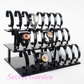 Wholesale High Quality Black Acrylic Watch Display Stand Holder Rack For 24 Pcs
