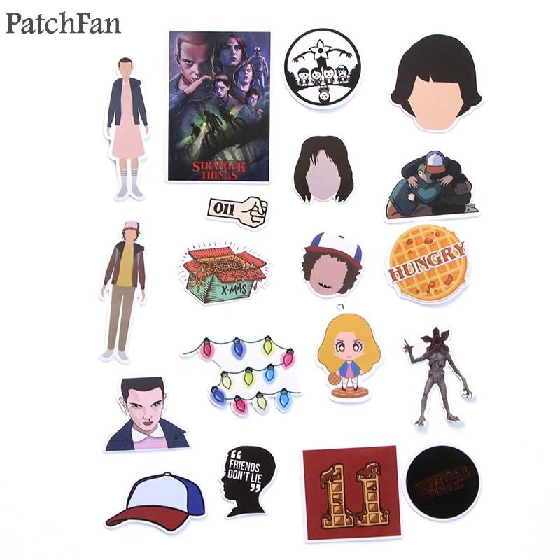 Patchfan 66pcs Stranger things Pvc Waterproof Cartoon Sticker For scrapbooking album Skateboard Wall Guitar Stickers A1437 in Stickers from Home Garden