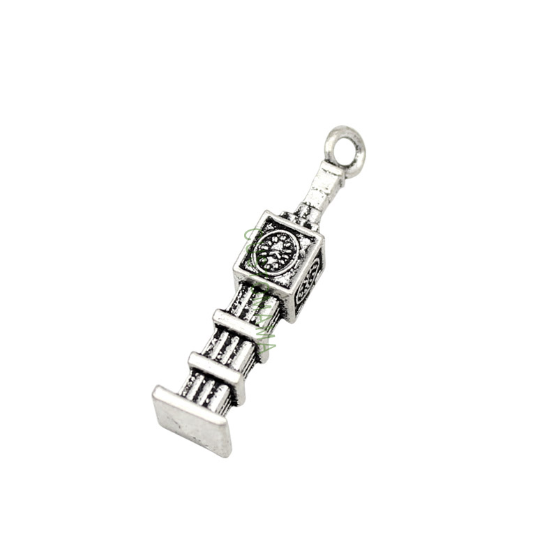 Charms Big Ben Charms Antique Silver 3d Clock Tower Charm Pendant 27x6x6mm As Effectively As A Fairy Does Sunny 50pcs-