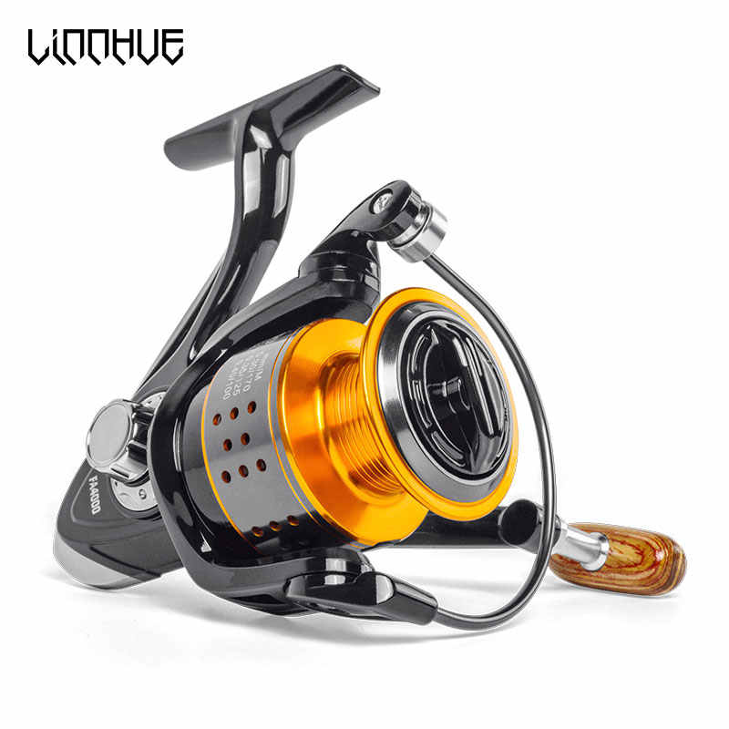 Linnhue Vissen Reel FA1000-6000 Geen Kloof Metalen Spool Max Drag 8Kg Pike Spinning Reel High Speed 5.2:1 Reel Vistuig Pesca