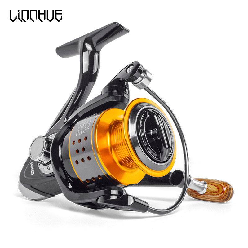Spinning fishing reel 13BB No gap FA3000 4000 6000 All metal wheel 8KG Pike Orange black Spinning reel High Speed wheel carp
