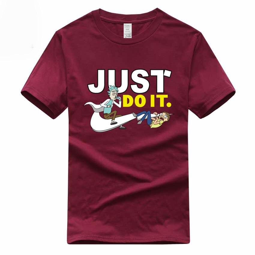 Euro Size Rick And Morty T-shirt Fashion Short Sleeve O-Neck Cartoon Unisex 100% Cotton Summer Tshirt GMT300001