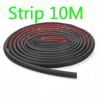 10M D shape Big and small CarTruck Motor Door Rubber Seal Strip Wheatherstrip Sealing Hollow Universal Rubber Door Sealing Trim