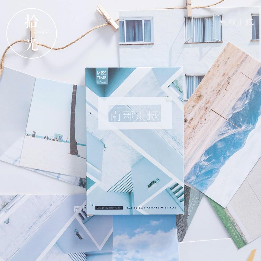 30 Sheets/Set Novelty Southern Small Town Postcard/Greeting Card/Wish Card/Christmas Gift