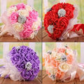 2017 Hot Sale Free Shipping Wedding Bouquet 9 Types 24 Handmade PE Roses Bouquets De Noiva Wedding Flowers Bridal Bouquets