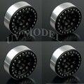 Black 1/10 RC Crawler 2.2 Alloy Beadlock Wheel Rims for Wraith D90 90034 90035 # 4