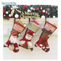 2017 Hot Sale New Christmas Stocking Gift Bag Christmas Decorations Large Luxury Christmas Socks Gifts Candy
