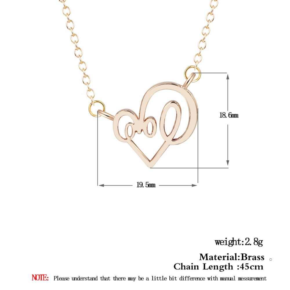 כסף זעיר הנוכחי אהבת תליון שרשראות לנשים אישיות HeartStatement תכשיטי Creative אופנה יוקרה מתנה