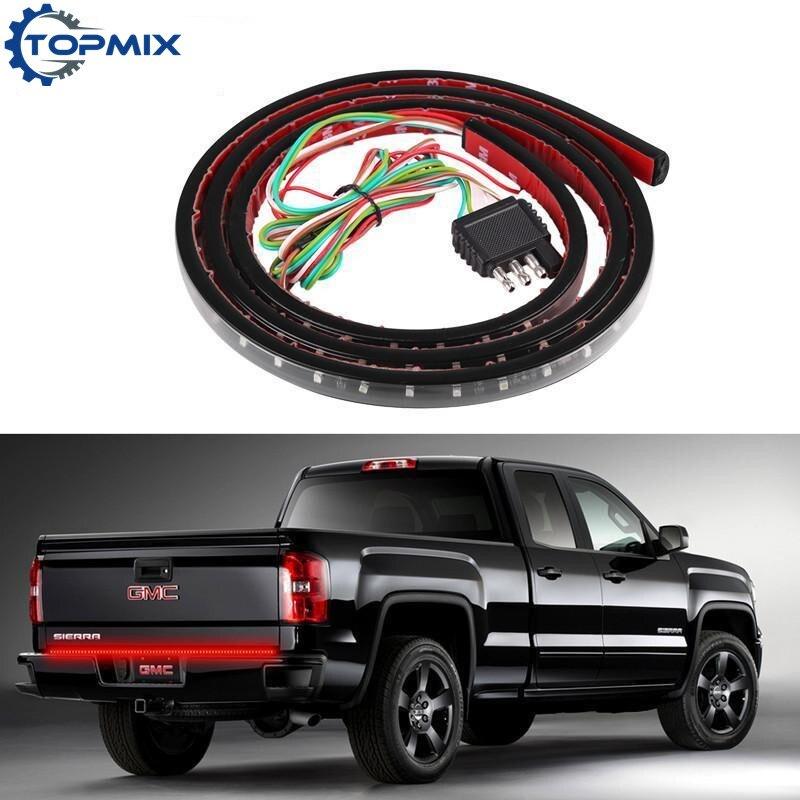"60/"" Reverse Brake Strip Bar Tailgate LED Signal Light Multi-Function Truck SUV"