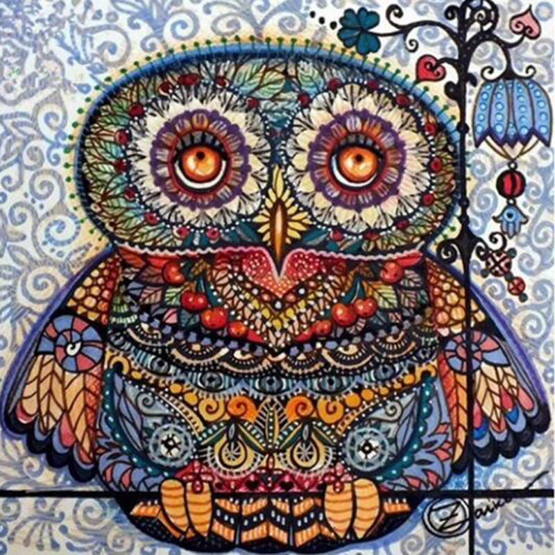 Animals Diamond Embroidery Bird Cross Stitch Diamond Painting Owl Picture Of Rhinestones Mosaic Factory Direct Decor Home L298
