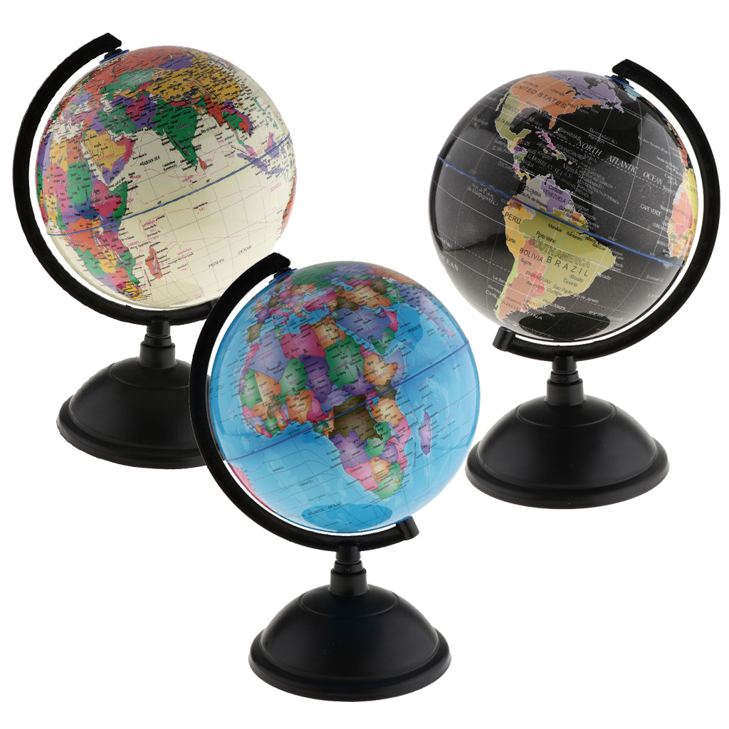 LED Light World Earth Globe Map Geography  Kids Student Educational Toy With Stand Home Office Miniatures Gift Office Decor