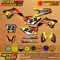 RMZ Customized Team Graphics Backgrounds Makita Decals Custom Stickers For RMZ RMZ250 RMZ450 04-14  Motocross Enduro Supermoto