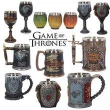 Игра престолов кофейные кружки из нержавеющей стали смолы чашки и кружки креативные посуда для напитков знак огонь и кровь