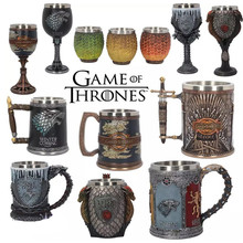 Game of Thrones Coffee Mugs Stainless Steel Resin Cups and Creative Drinkware Mark Fire Blood