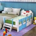 Crianças Camas Mobília Das Crianças 120*60 centímetros crianças camas de madeira maciça com escada toda venda quente qualidade da moda 2017 bom preço