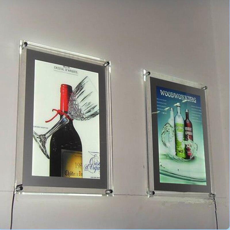 A4 односторонний недвижимости светодиодный отображает lightbox, стены led дисплеи, illmunted плакат кадров для агент по недвижимости YWLPD-011 ...