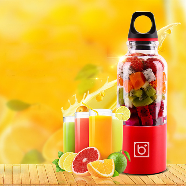 500ml Portable USB Rechargeable Electric Automatic Bingo Vegetables Fruit Juicer
