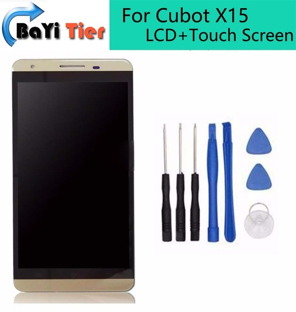 """Для Cubot X15 5.5 """"жк-дисплей + сенсорный экран + рамка Используется + 100% ремонт замена аксессуары для Cubot X15 бесплатная доставка + инструменты"""