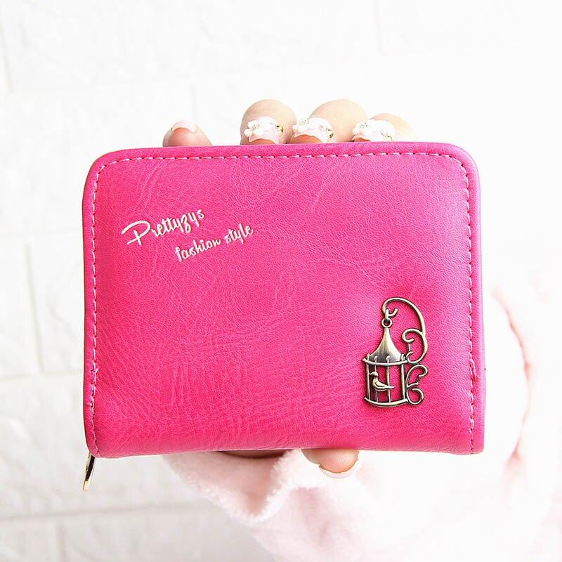 Candy color 2 Fold Zip Short Mini wallet Women Clutch PU leather wallet purse  fresh Ladies wallet  coin purse Female money bag цена 2017