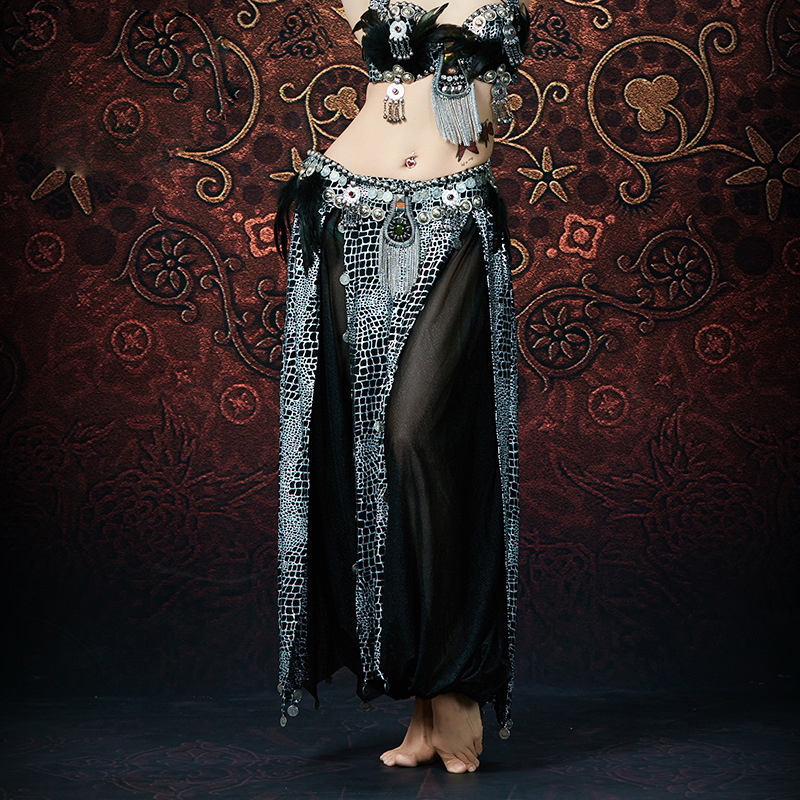 2019 New Wild American Tribal Belly Dancer Costume Accessories Gypsy Wear Crocodile Print ATS Flare Pants (without Belt)