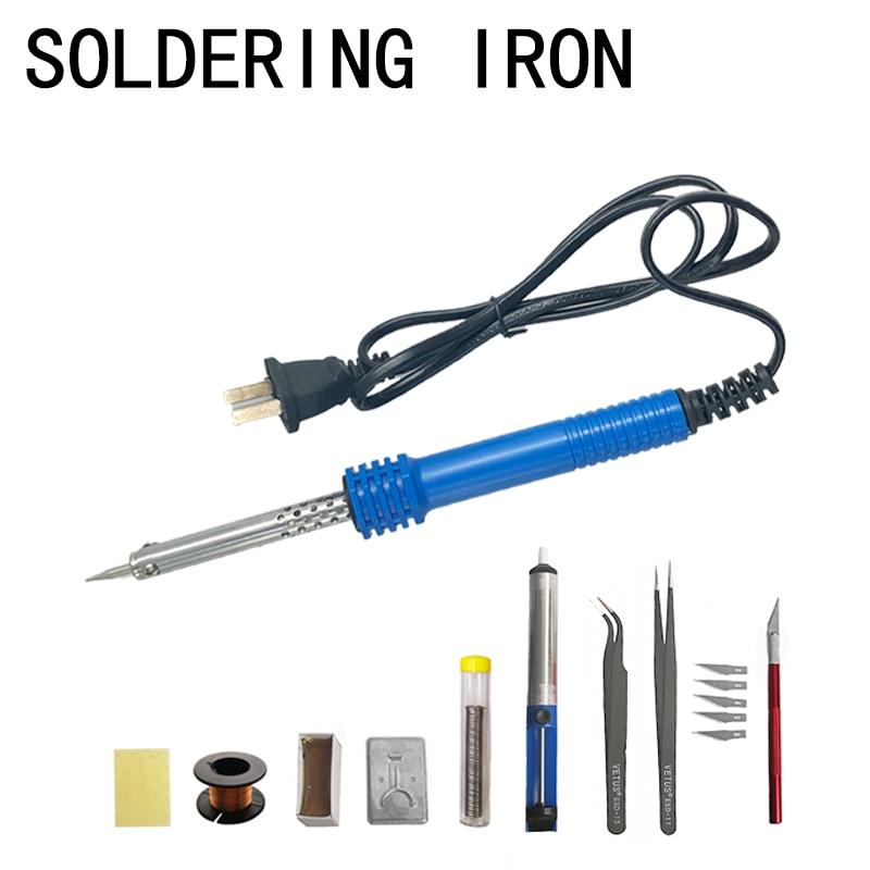 30W 220V Ferro De Solda Elétrica Kit De Ferramentas de Solda Ferro De Solda de Solda Mão Aquecida Externa