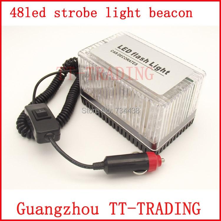 car led strobe warning light vehicle square flashing lamp emergency. Black Bedroom Furniture Sets. Home Design Ideas
